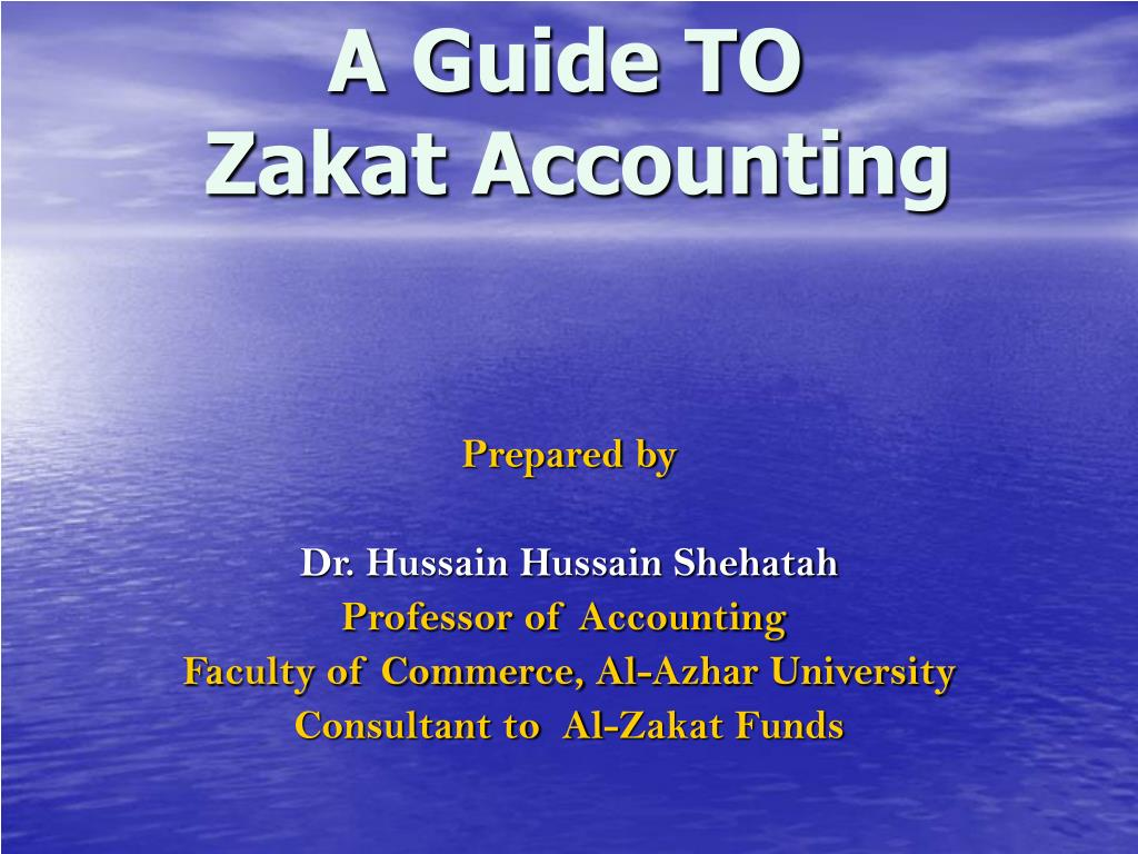 a guide to zakat accounting l.