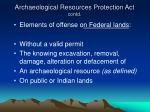 archaeological resources protection act contd