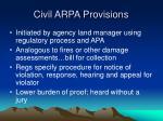 civil arpa provisions