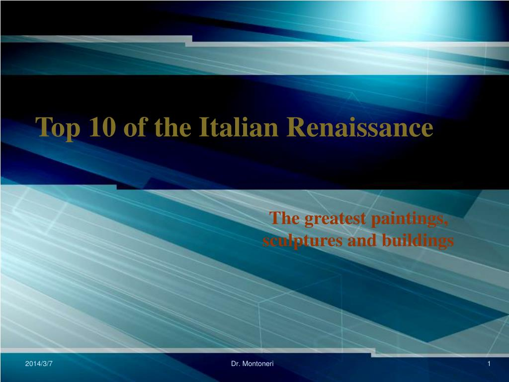 top 10 of the italian renaissance l.