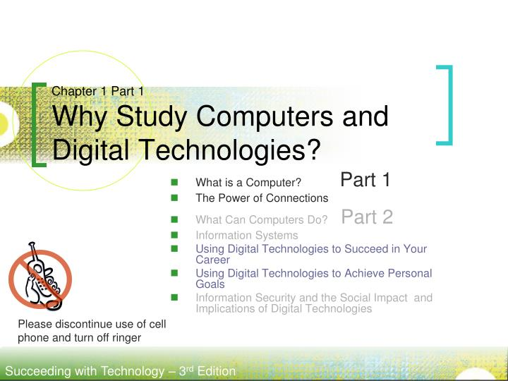 chapter 1 part 1 why study computers and digital technologies n.