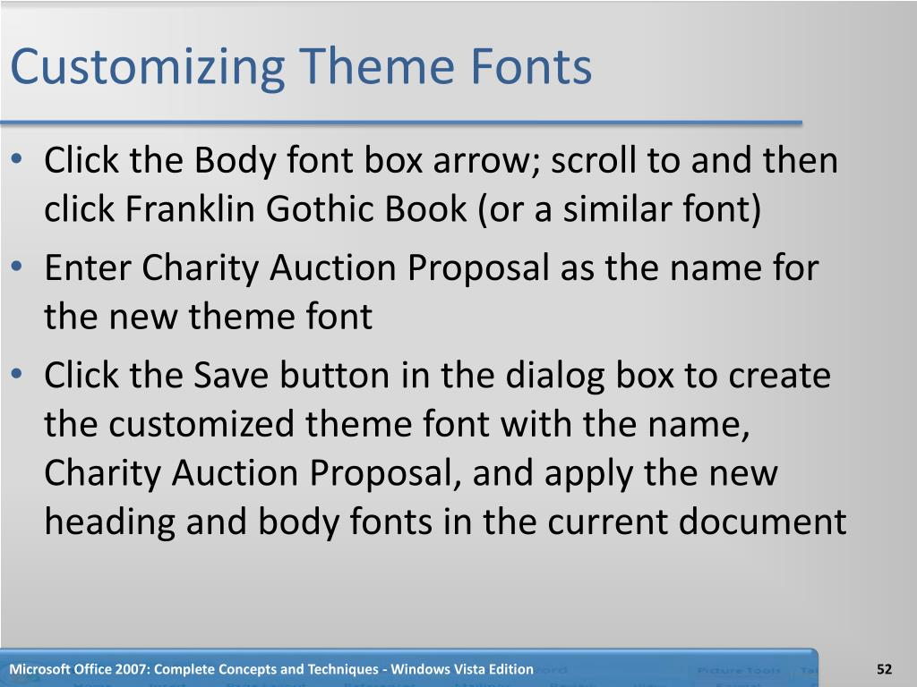 Customizing Theme Fonts