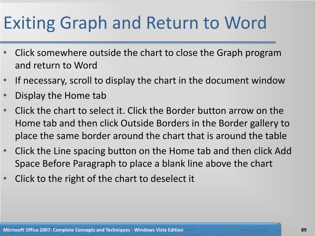 Exiting Graph and Return to Word