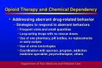 opioid therapy and chemical dependency37