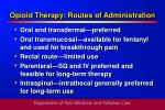 opioid therapy routes of administration