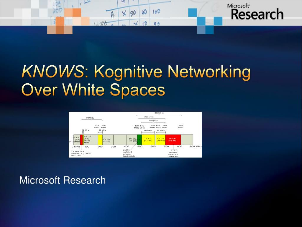 knows kognitive networking over white spaces