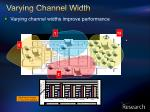 varying channel width