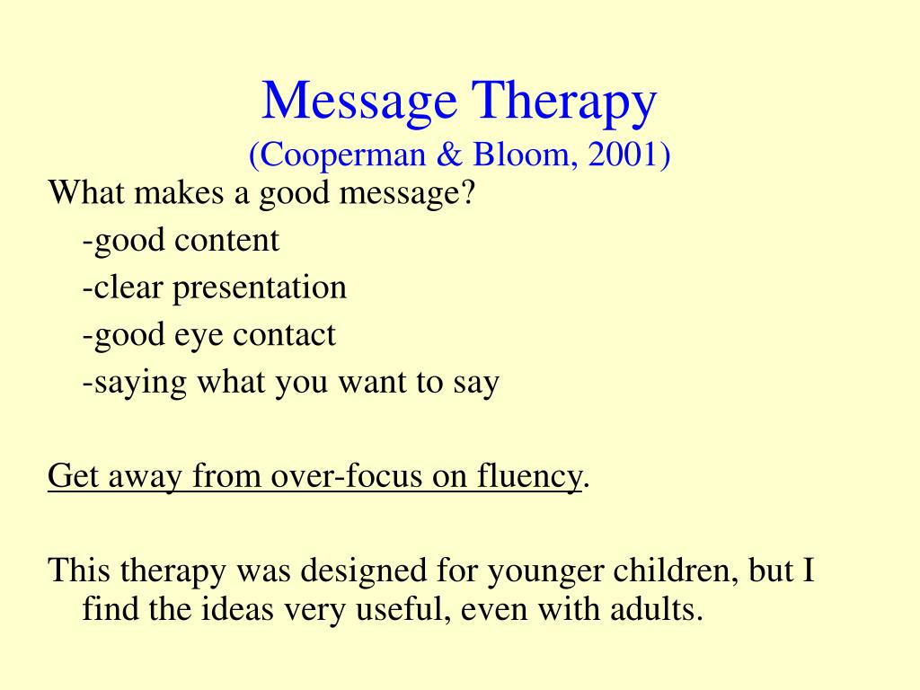 Message Therapy