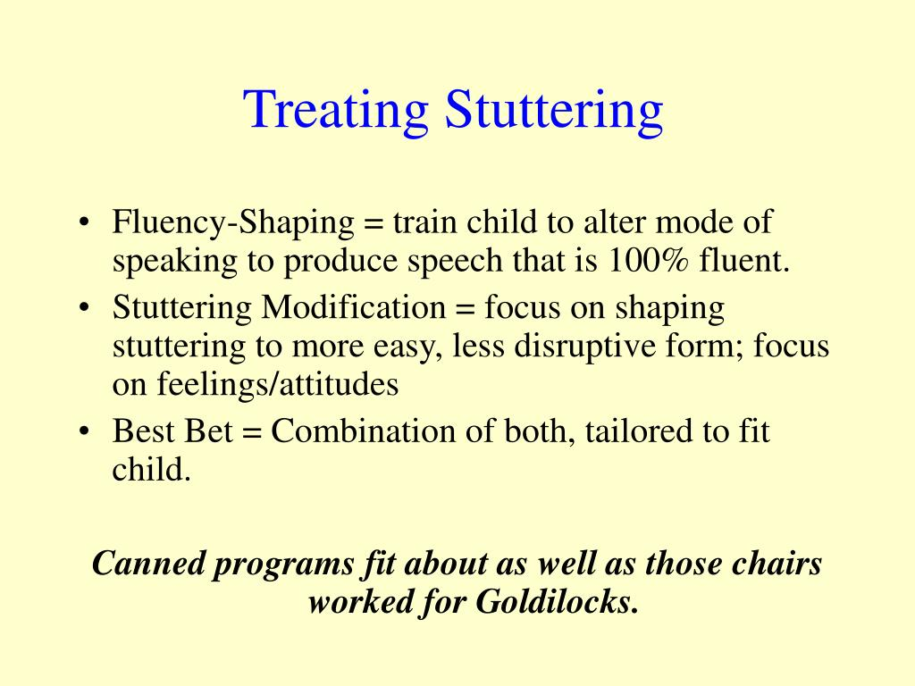 Treating Stuttering