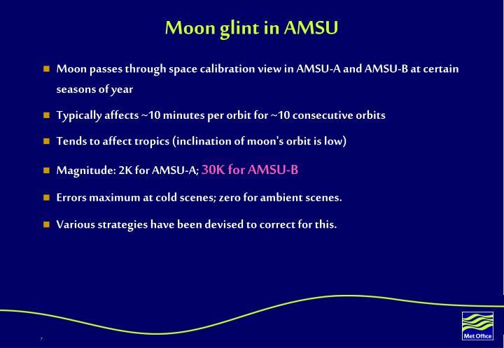 Moon glint in amsu2