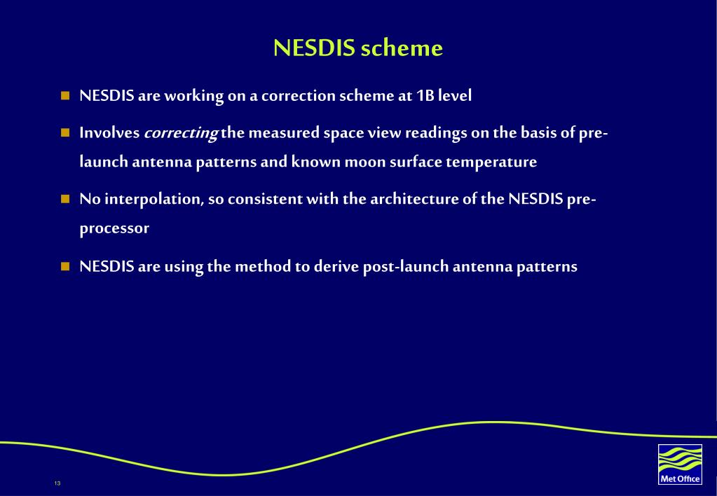NESDIS scheme