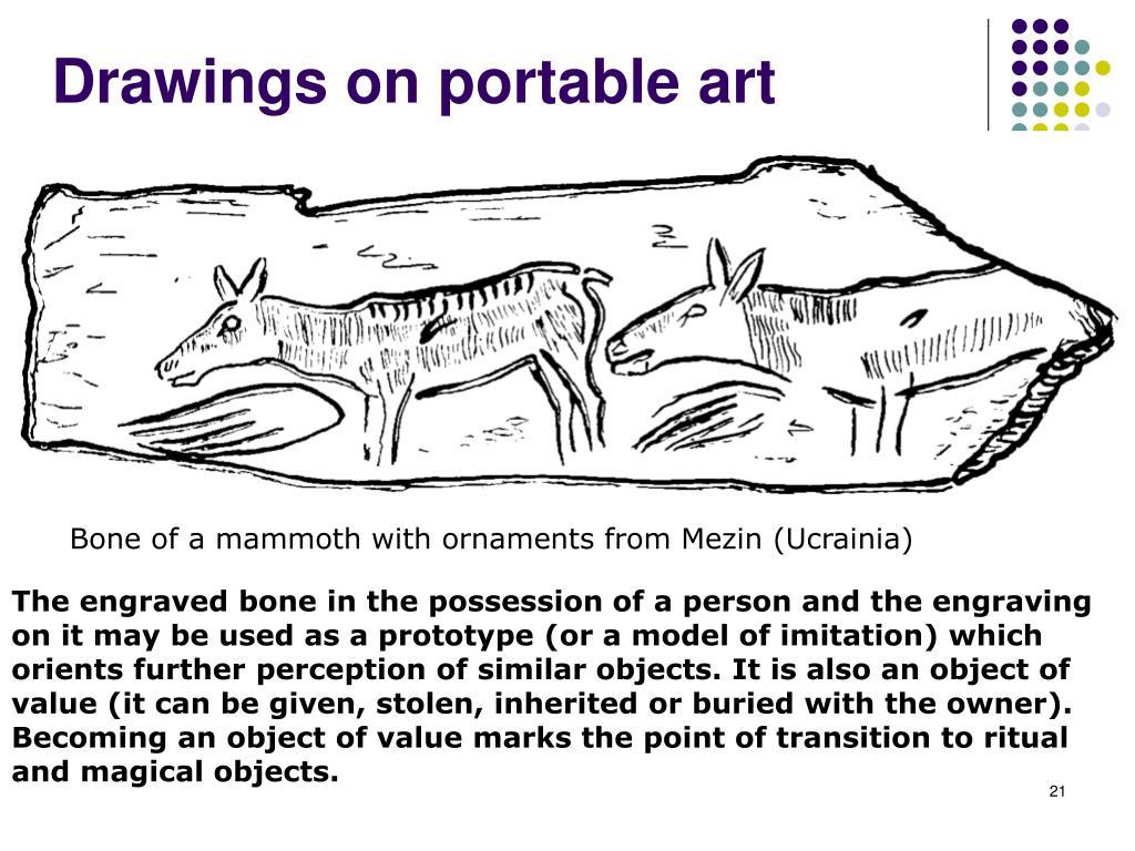 Drawings on portable art