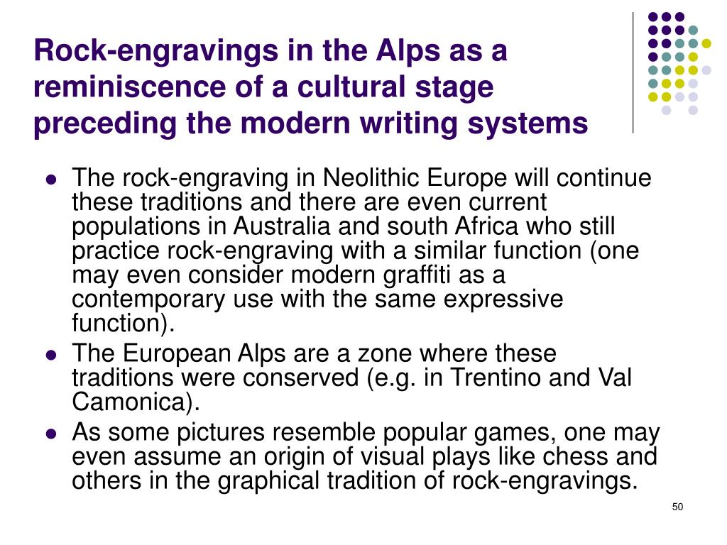 Rock-engravings in the Alps as a reminiscence of a cultural stage preceding the modern writing systems