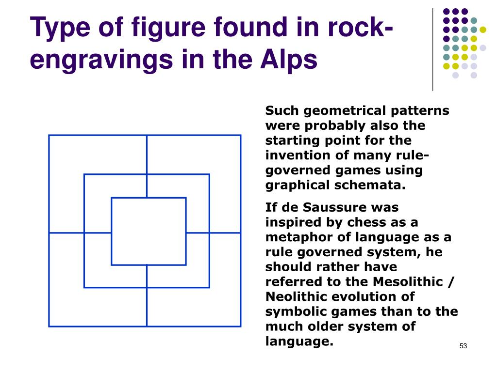 Type of figure found in rock-engravings in the Alps