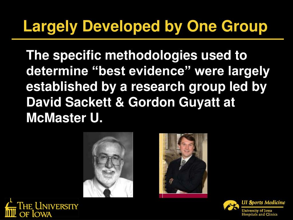 Largely Developed by One Group