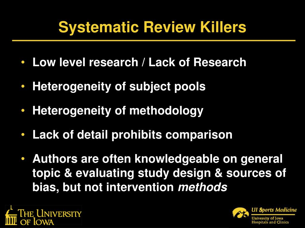 Systematic Review Killers