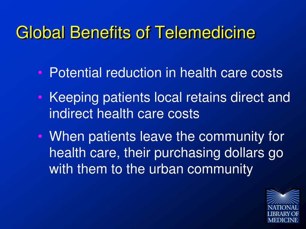 Global Benefits of Telemedicine