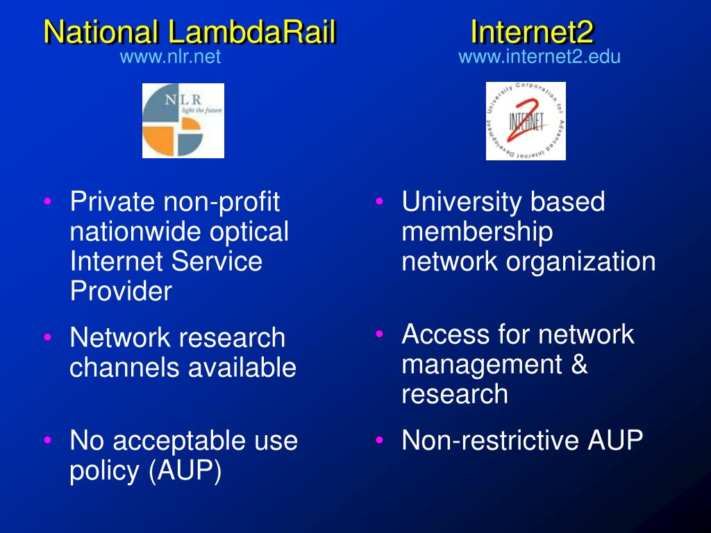Private non-profit nationwide optical Internet Service Provider