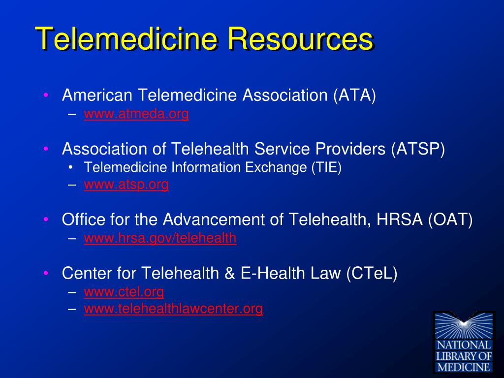 Telemedicine Resources