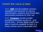 unlock the value of data