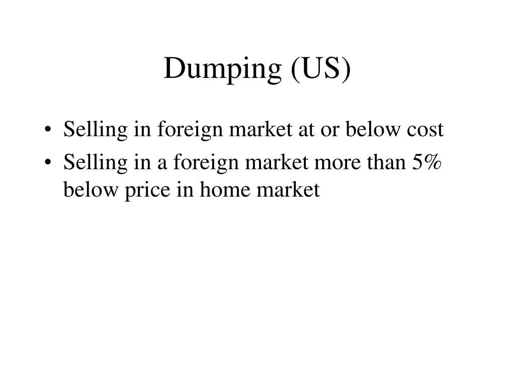 Dumping (US)
