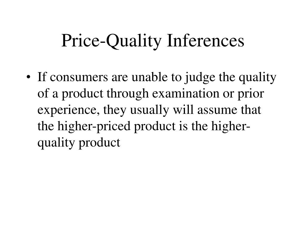 Price-Quality Inferences