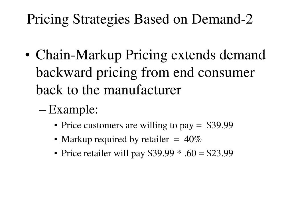 Pricing Strategies Based on Demand-2