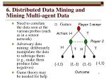 6 distributed data mining and mining multi agent data