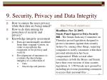 9 security privacy and data integrity