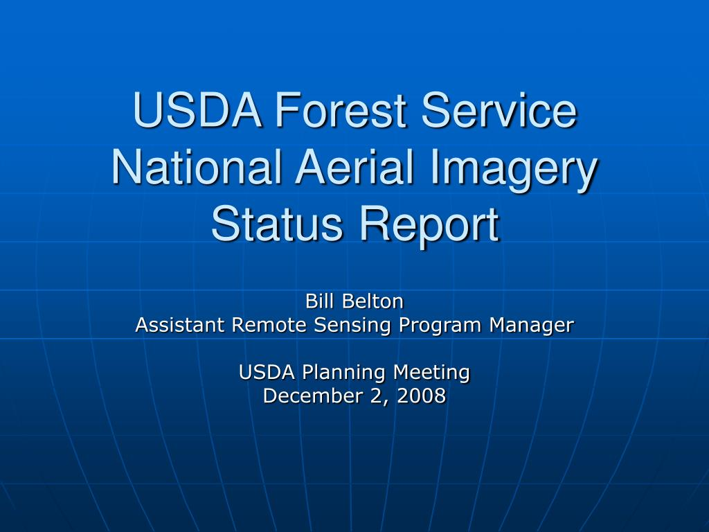usda forest service national aerial imagery status report l.