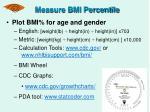measure bmi percentile