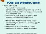 pcos lab evaluation cont d67