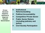 cross sectoral impacts actions to improve overall governance