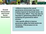 overall governance and forest sector governance