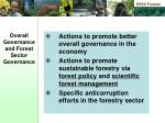 overall governance and forest sector governance11