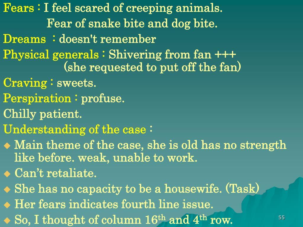 Fears :