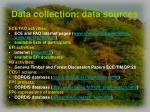 data collection data sources