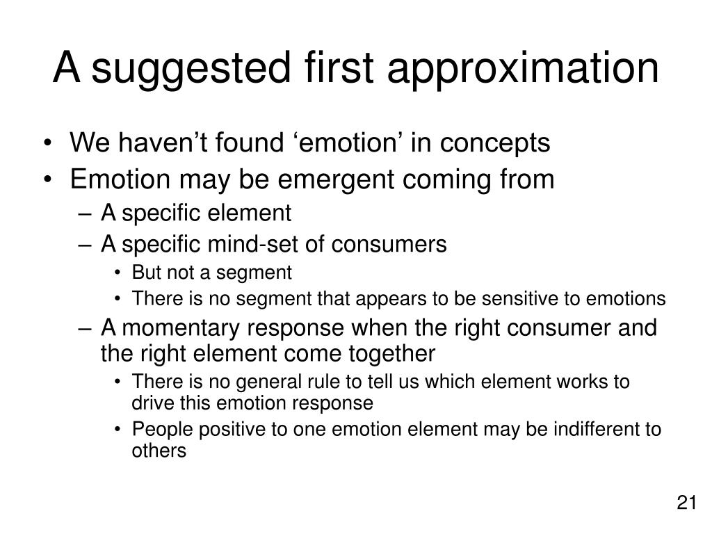 A suggested first approximation
