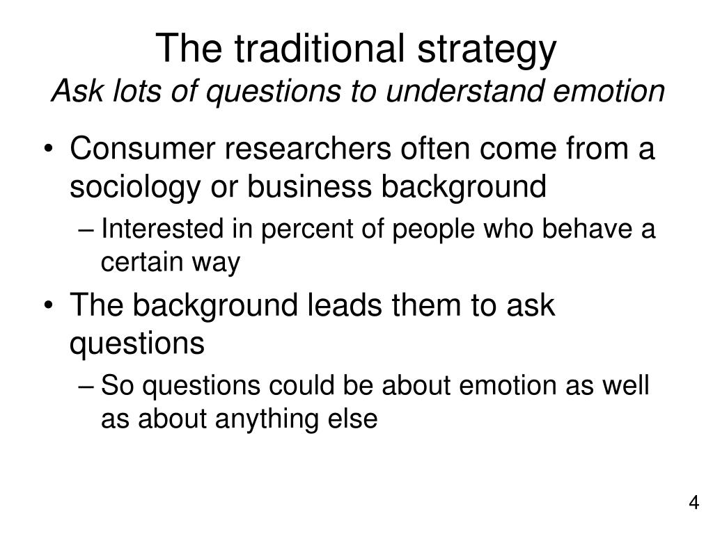 The traditional strategy