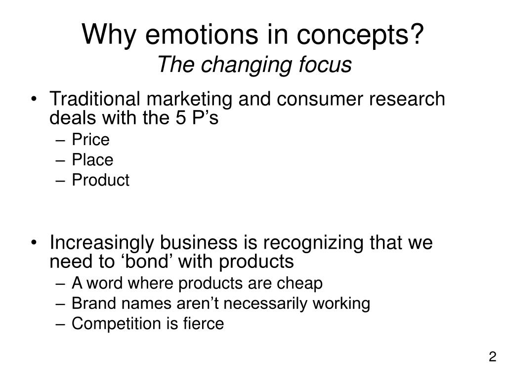 Why emotions in concepts?