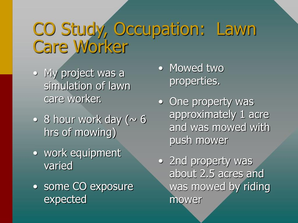 My project was a simulation of lawn care worker.