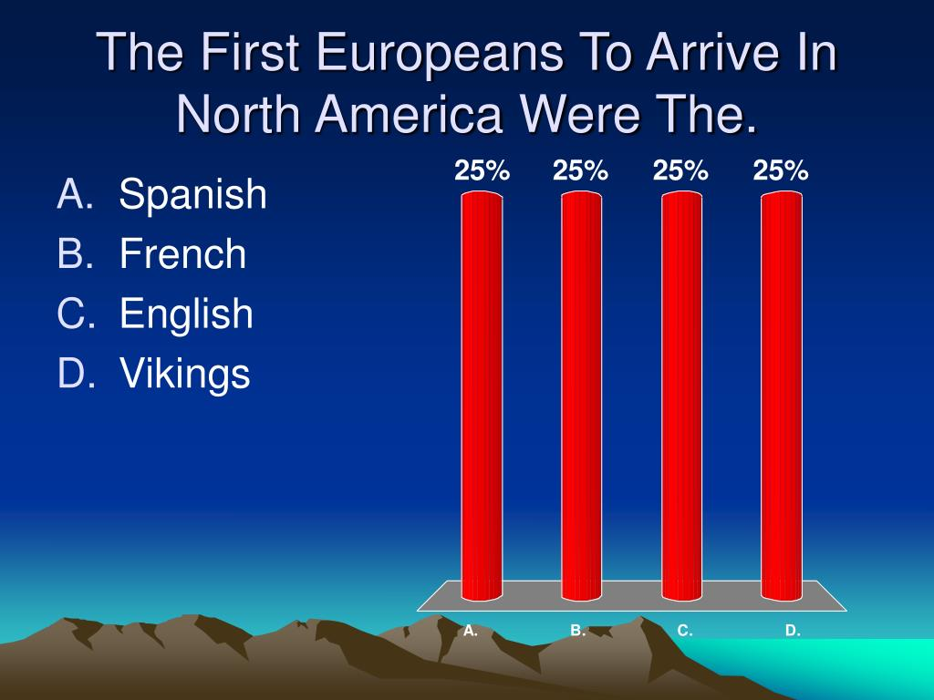 The First Europeans To Arrive In North America Were The.