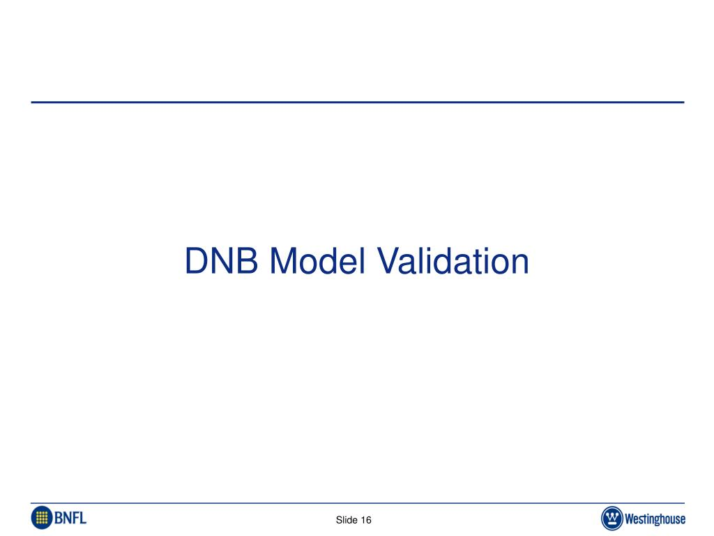 DNB Model Validation