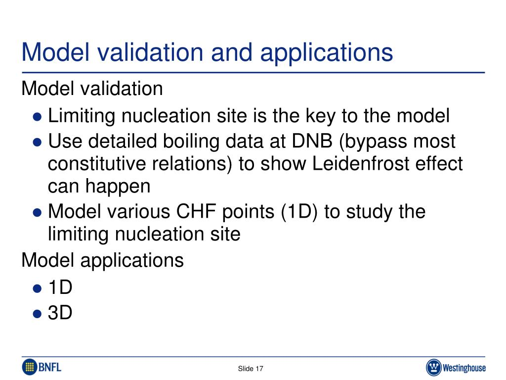 Model validation and applications
