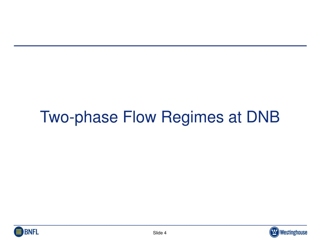 Two-phase Flow Regimes at DNB