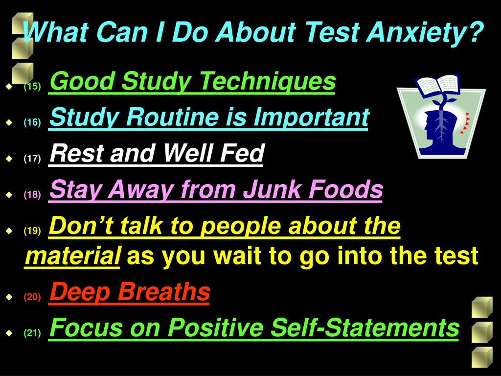 What Can I Do About Test Anxiety?