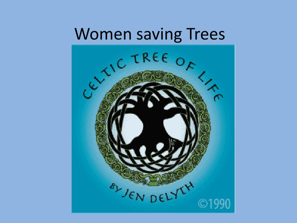 women saving trees l.