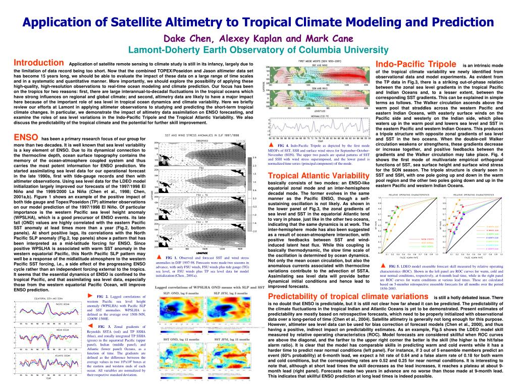 application of satellite altimetry to tropical climate modeling and prediction l.