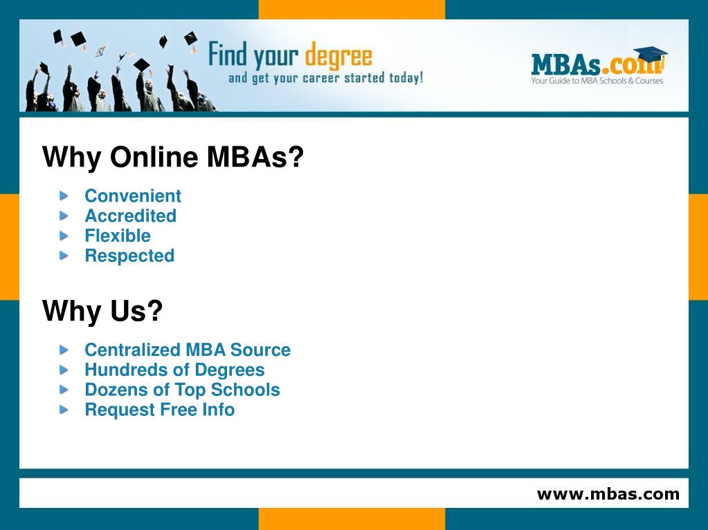 Why Online MBAs?
