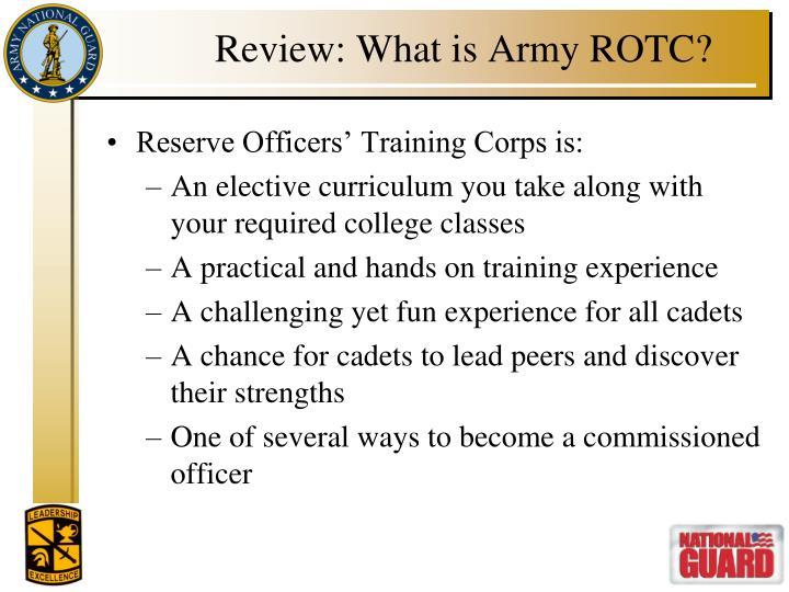 Ppt purdue army rotc simultaneous membership program powerpoint review what is army rotc toneelgroepblik Choice Image